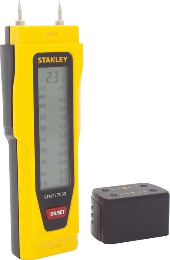 STANLEY 0-77-030 Vochtmeter - meten van bouwvochtigheid en houtvochtigheid
