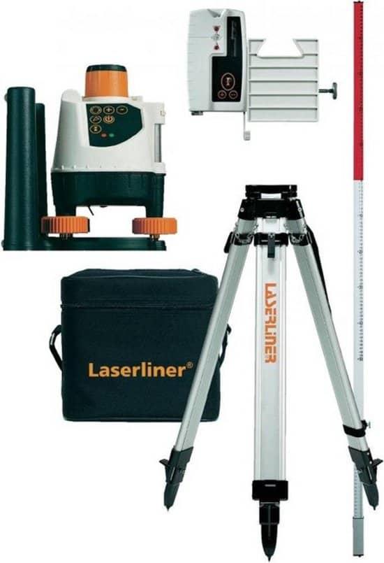 Laserliner BeamControl-Master 120 Set Rotatielaser incl. statief en ontvanger - 120m