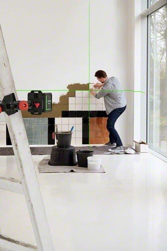Bosch Quigo Green Kruislijnlaser - Zelfnivellerend - 12 meter bereik - 2x 1.5V (AAA)