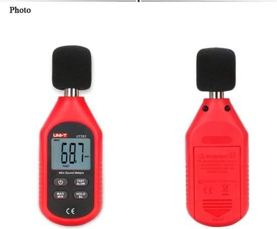 Ortho UNI-T Geluidsmeter, dB meter, Decibelmeter, Geluidssterktemeter, Geluidsniveaumeter, Digitaal.