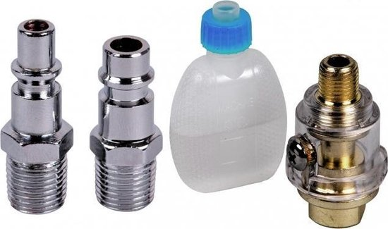 FERM Pneumatische Slagmoersleutel – DIN / Orion aansluiting – Incl. 10-delige doppenset & koffer