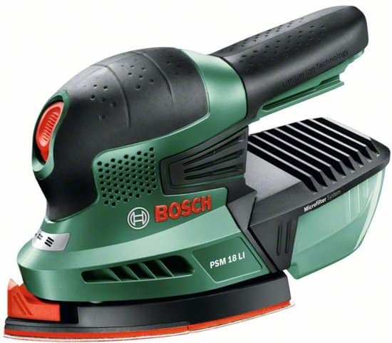 Bosch PSM 18 LI Multischuurmachine - Exclusief accu en oplader - Inclusief 3 schuurbladen