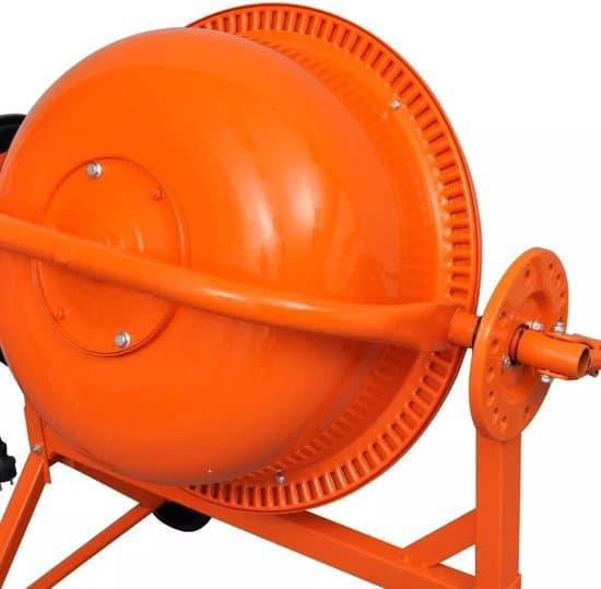 vidaXL Betonmolen elektrisch 220 W 63 L staal oranje